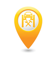car service icon on map pointer vector image