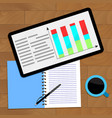 chart statistical research vector image vector image