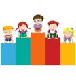 Children on bar chart vector image vector image