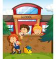Children skipping from school vector image vector image
