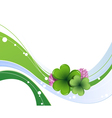 Clover leaves and flowers vector image vector image