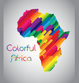 colorful africa vector image