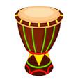 colorful cartoon mexican drum vector image vector image