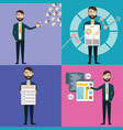 concept businessman with task multitasking vector image