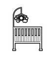 cot baby shower toy mobile furniture infant vector image vector image