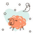 cute baby lamb cartoon t shirt vector image vector image