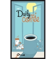 daily coffee cup vector image
