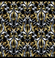 damask baroque gold silver seamless pattern vector image vector image