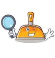 detective dustpan character cartoon style vector image vector image