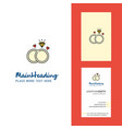 diamond ring creative logo and business card vector image