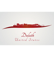 Duluth skyline in red vector image vector image