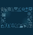 education concept blue modern horizontal vector image vector image