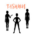 fashion woman silhouettes in different poses vector image vector image