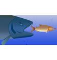 fish predator vector image vector image