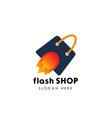 flash shop logo design template fast sale icon vector image vector image