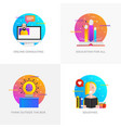 flat designed concepts - online consulting vector image vector image