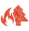 forest fire icon grunge watermark vector image