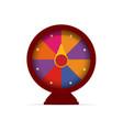 fortune wheel game logo casino slot machine vector image vector image