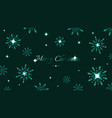 full hd green shine snowflakes and stars elements vector image vector image