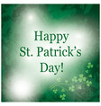 green grunge background for saint patrick day vector image