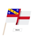 Herm Ribbon Waving Flag Isolated on White