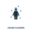 house cleaner icon creative two colors design vector image vector image