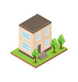 isometric house icon vector image vector image
