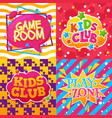 kids club game room play zone vector image