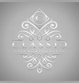 letter c logo - classic luxurious silver vector image vector image