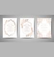 Luxury wedding save date invitation cards