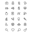 medical line icons 1 vector image