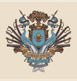 medieval heraldic coat arms in vintage style vector image vector image