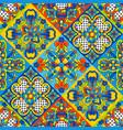 mexican talavera ceramic tile seamless pattern vector image