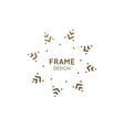 minimalistic abstract frame snowflake logo vector image vector image