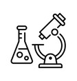 monochrome icon practical work at chemical lab vector image vector image