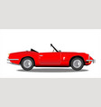 old sports car vector image vector image