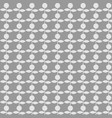 pattern flower on gray background vector image vector image