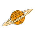 planet continuous line vector image vector image