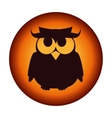 poster halloween party owl design isolated vector image vector image