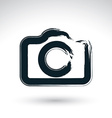 Realistic ink hand drawn digital camera icon vector image