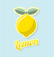 retro lemon with title on striped background vector image vector image