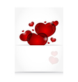 romantic letter with cute hearts vector image vector image