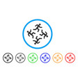 running men rounded icon vector image vector image