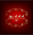 santa claus with deer vector image vector image