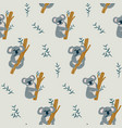 seamless childish pattern with cute l vector image