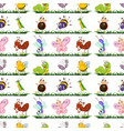 seamless pattern tile cartoon with insects vector image vector image