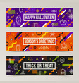 set of halloween greeting banners vector image vector image
