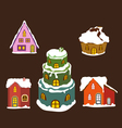 set of winter christmas house for design 1 vector image vector image