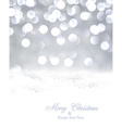 Silver christmas background with snow vector image vector image