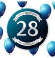 Silver number twenty eight years anniversary vector image